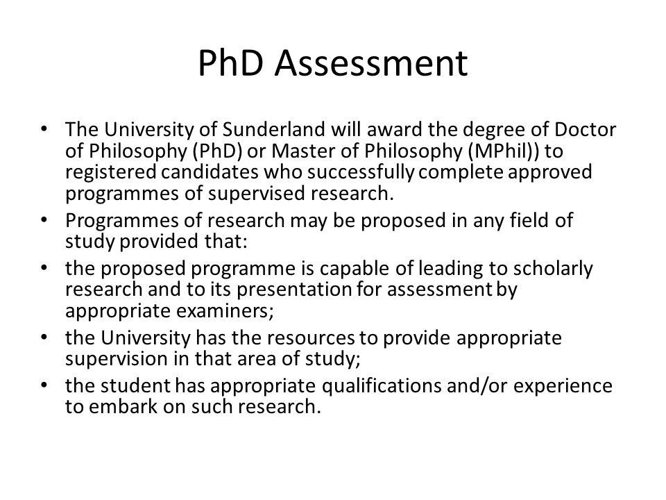 PhD Assessment