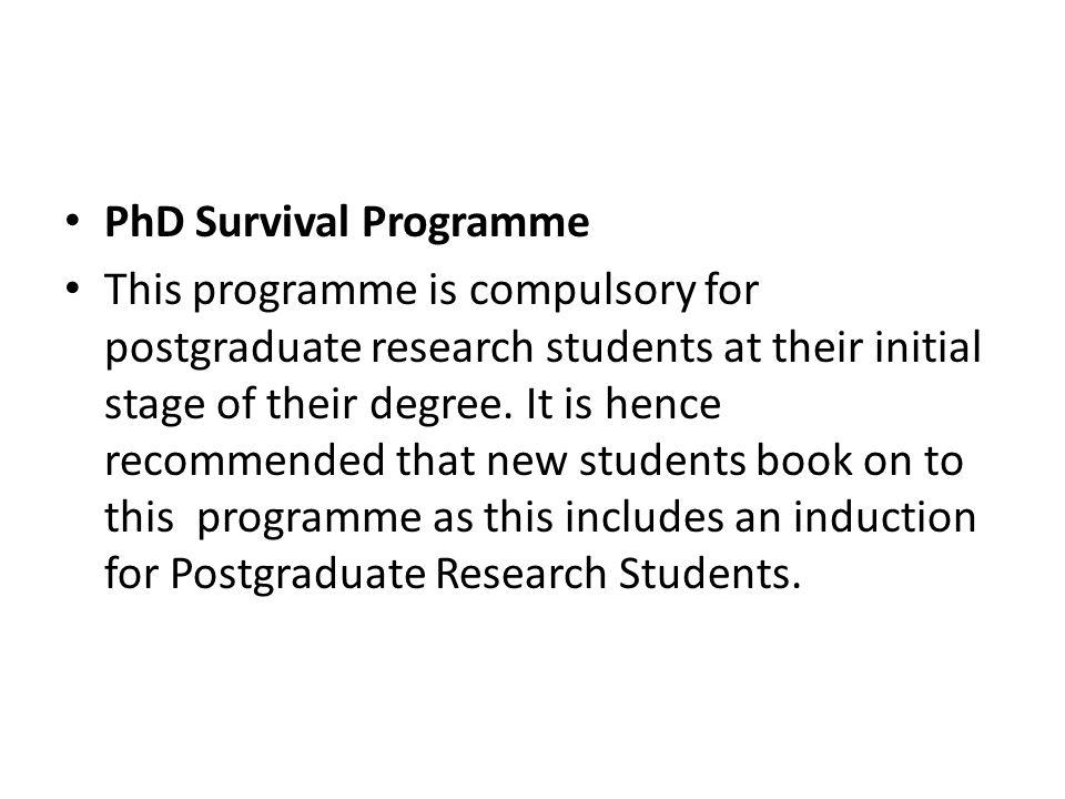 PhD Survival Programme