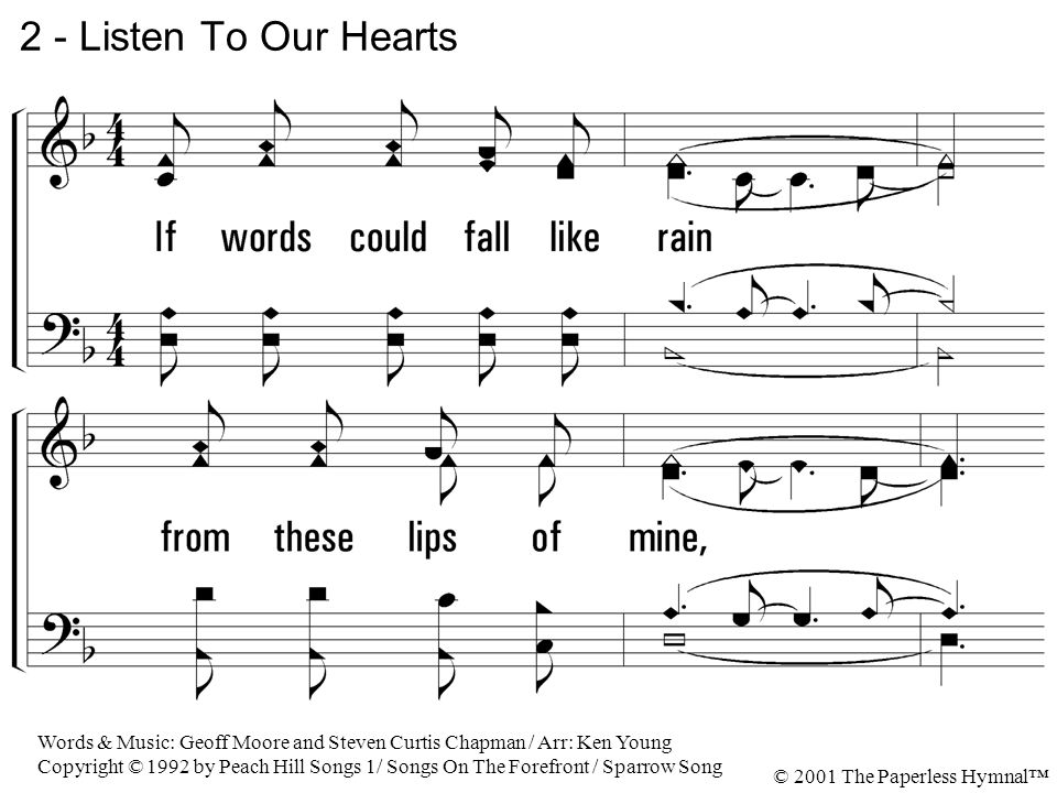 Piano a thousand years sheet music piano free : 1 - Listen To Our Hearts 1. How do you explain, how do you ...