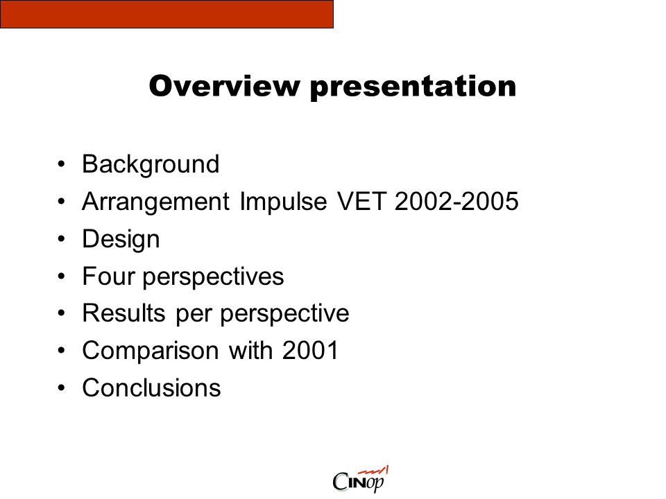 Overview presentation