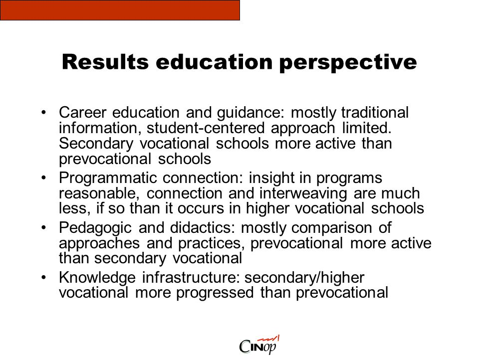 Results education perspective
