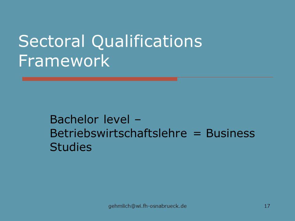 Sectoral Qualifications Framework