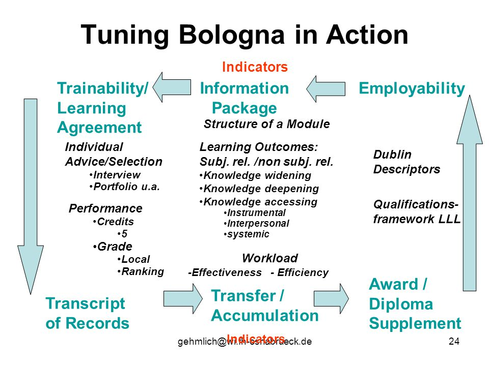 Tuning Bologna in Action