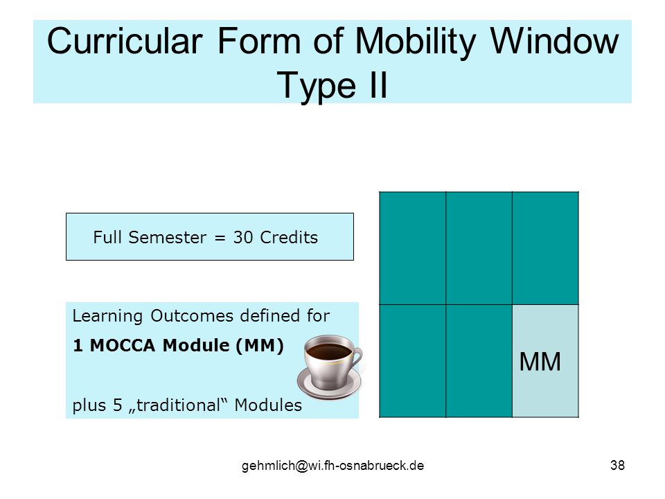 Curricular Form of Mobility Window Type II