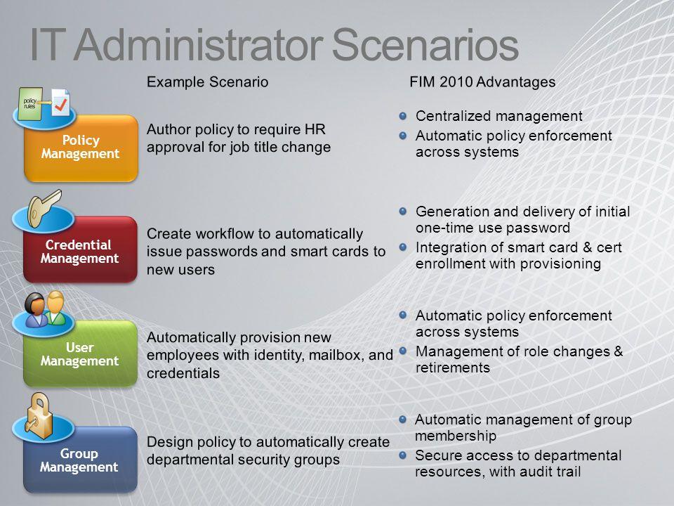 IT Administrator Scenarios