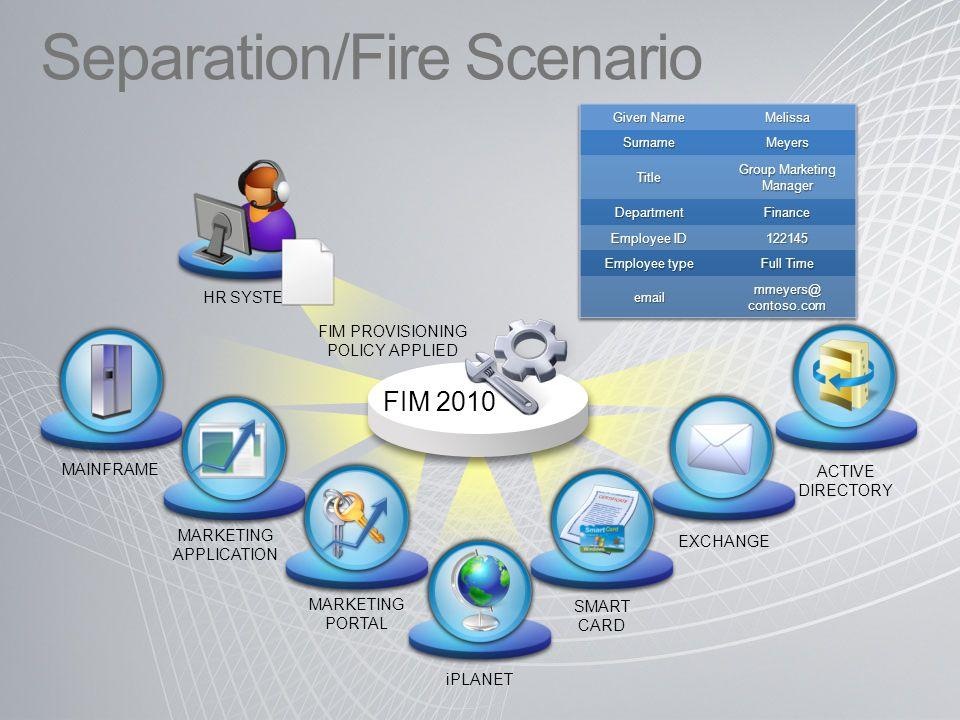 Separation/Fire Scenario