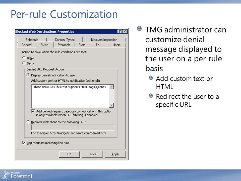 Per-rule Customization