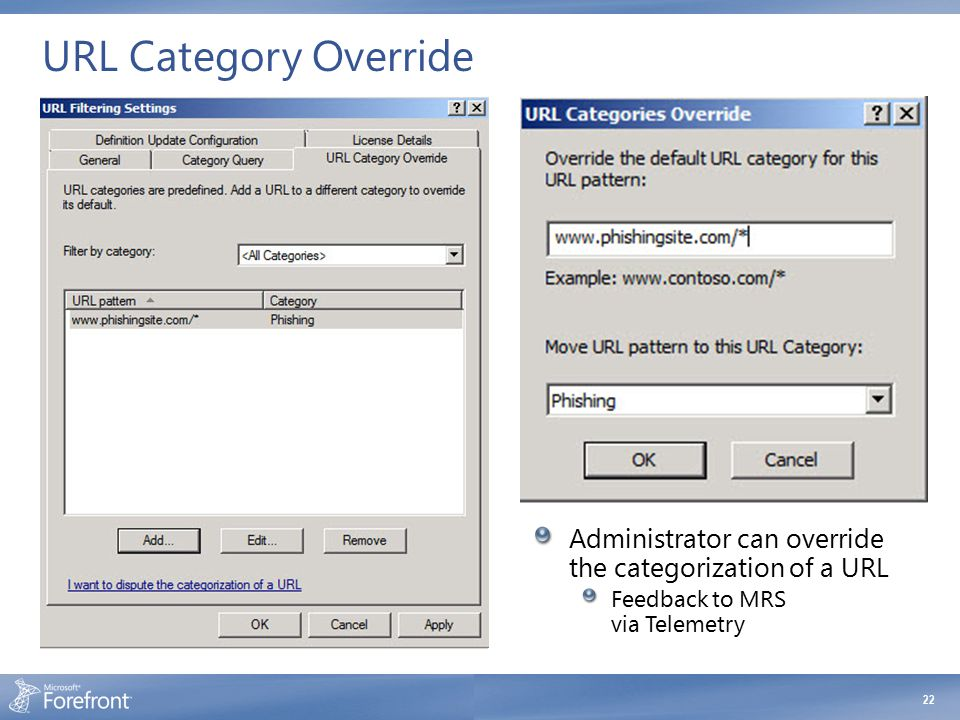 URL Category Override