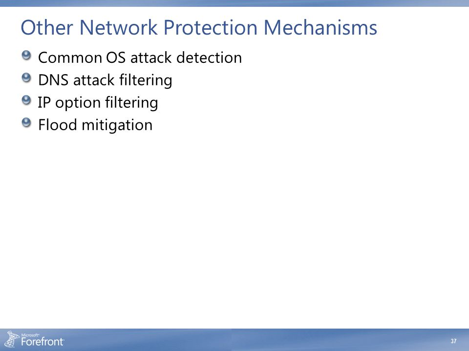 Other Network Protection Mechanisms
