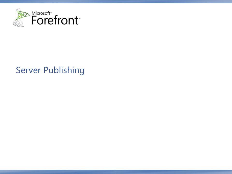 Server Publishing