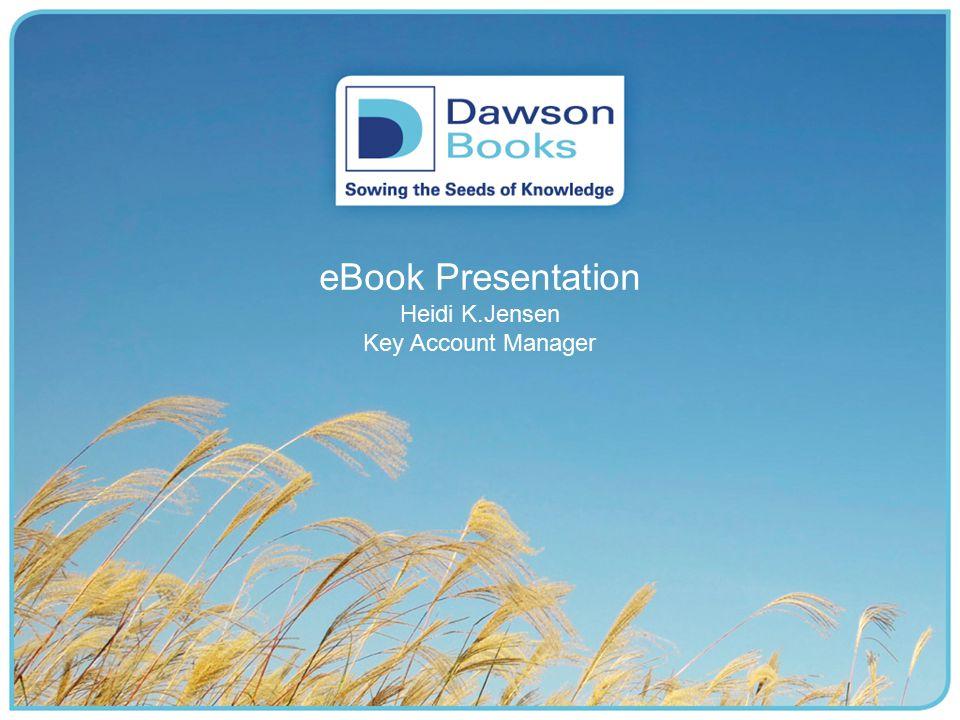 eBook Presentation Heidi K.Jensen Key Account Manager