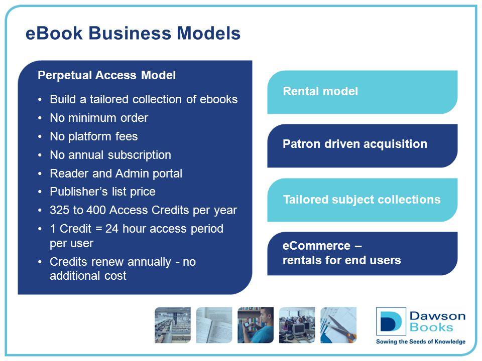 eBook Business Models Perpetual Access Model