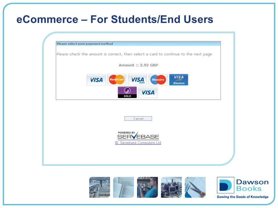 eCommerce – For Students/End Users