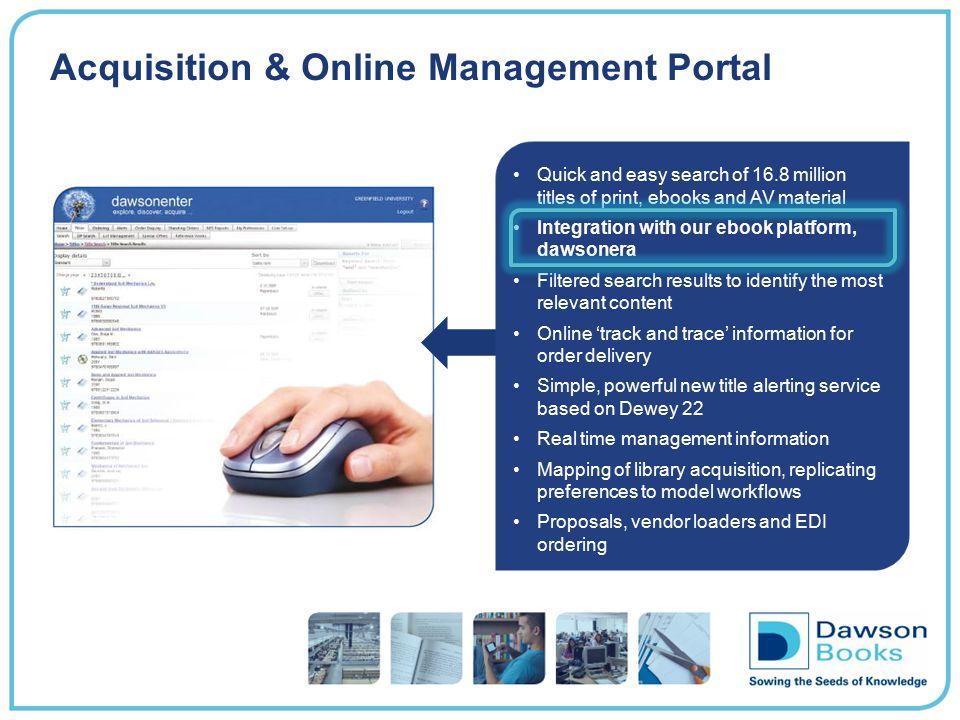 Acquisition & Online Management Portal
