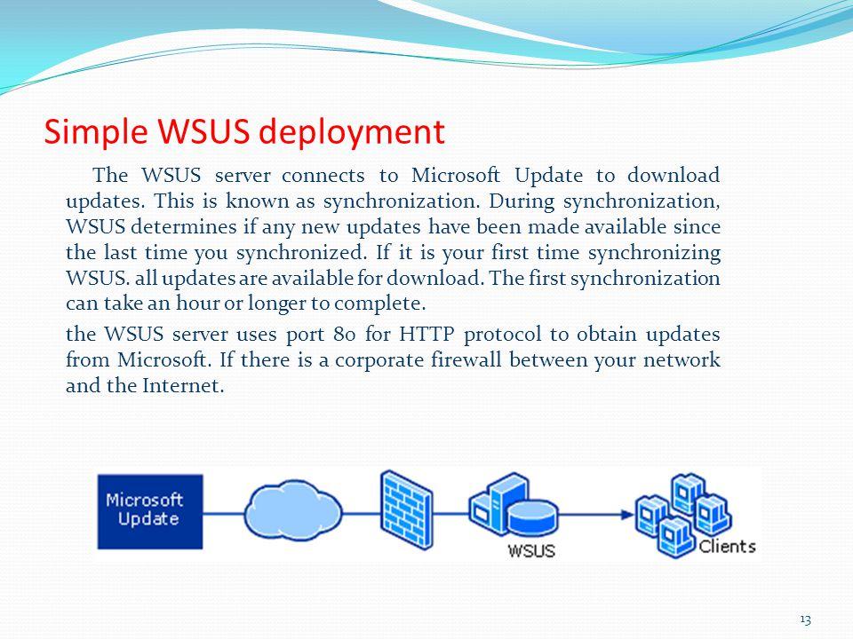 Simple WSUS deployment