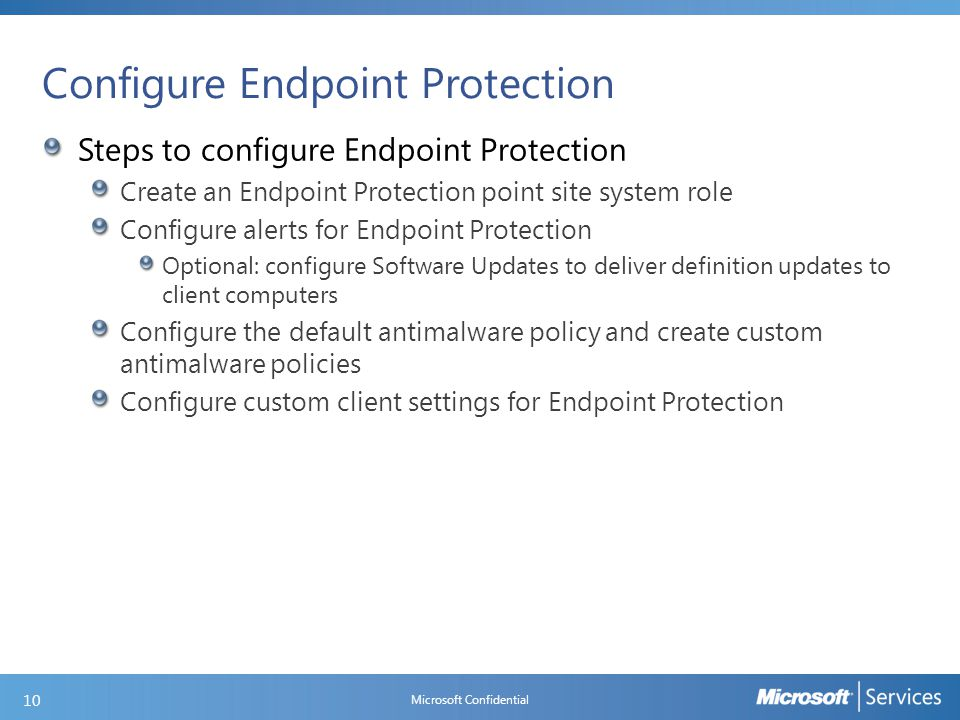 DEMO: Enable and configure an Endpoint Protection Point