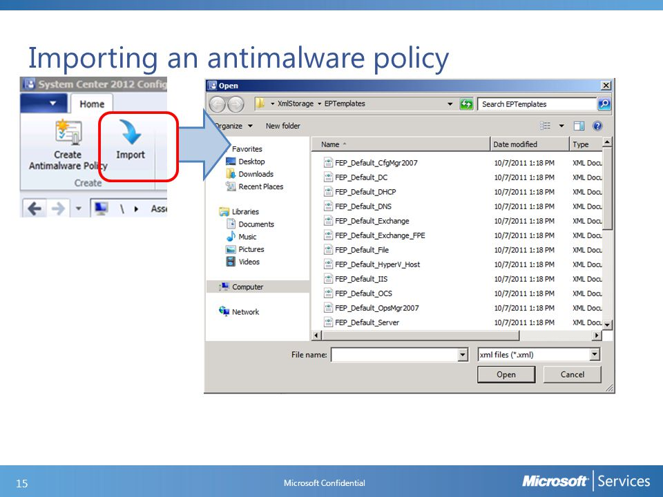 Deploying an antimalware policy
