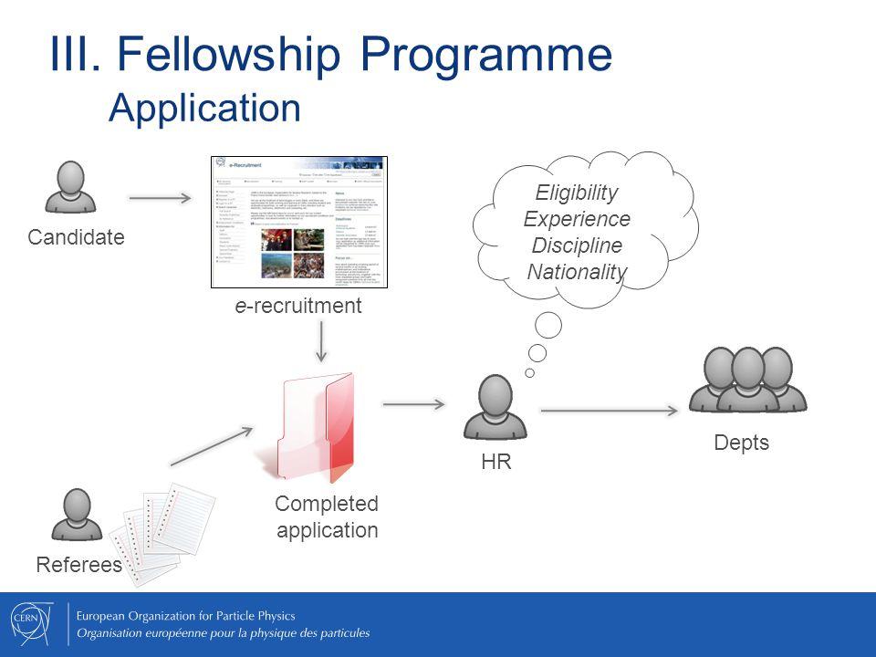 III. Fellowship Programme