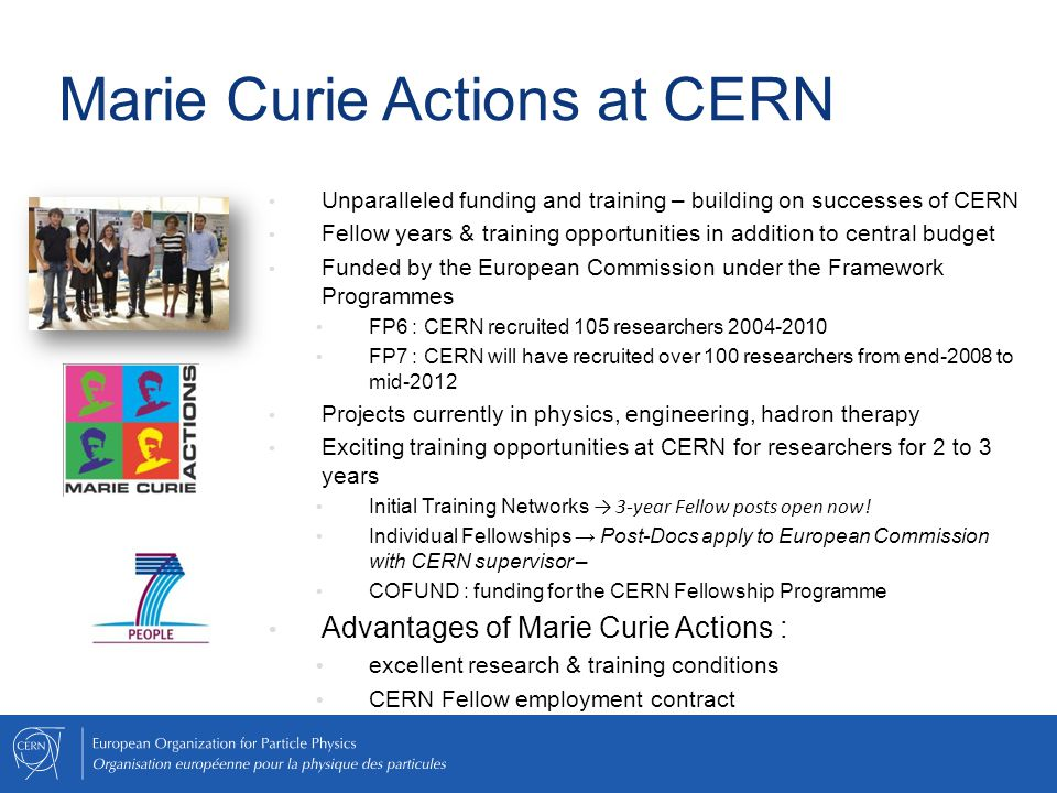 Marie Curie Actions at CERN