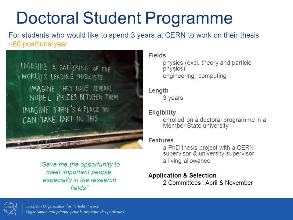 Doctoral Student Programme
