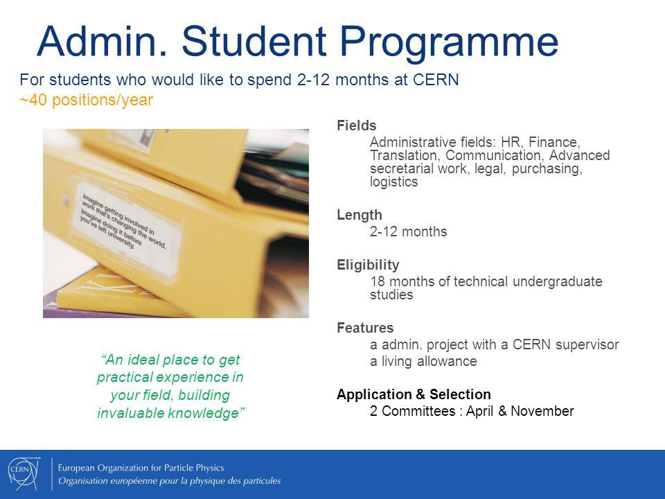 Admin. Student Programme