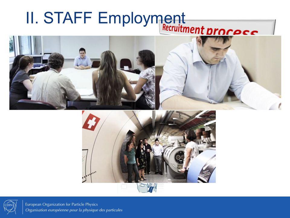 II. STAFF Employment Recruitment process