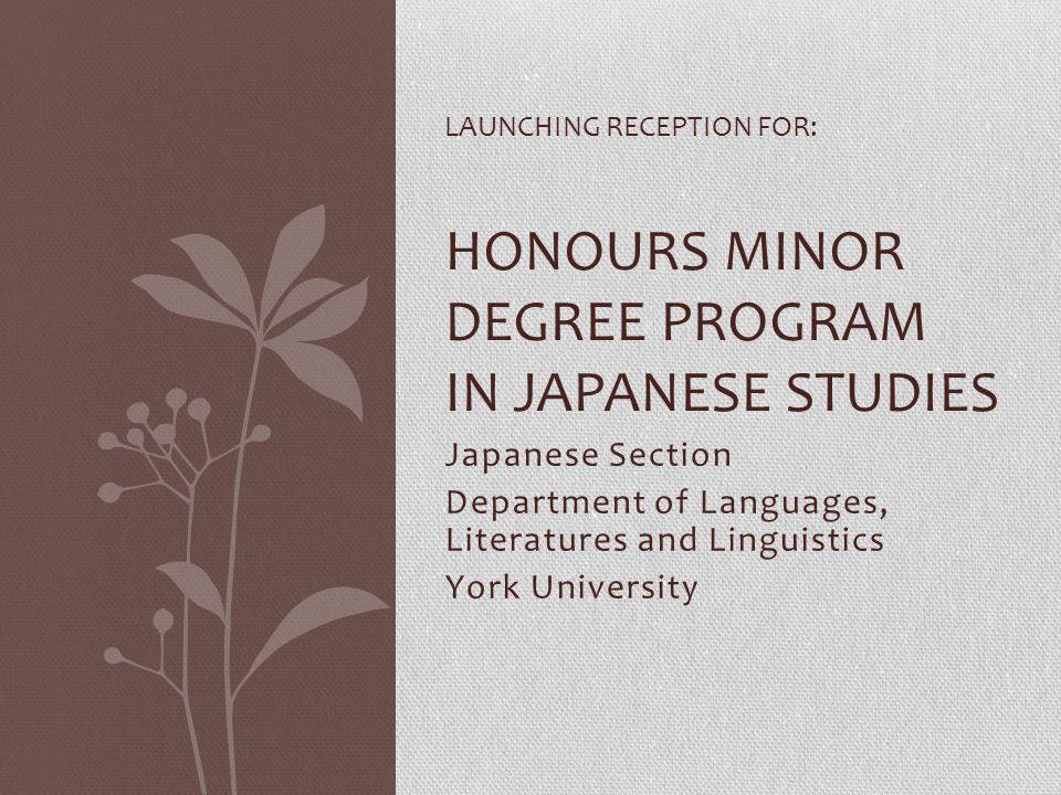 Department of Languages, Literatures and Linguistics York University