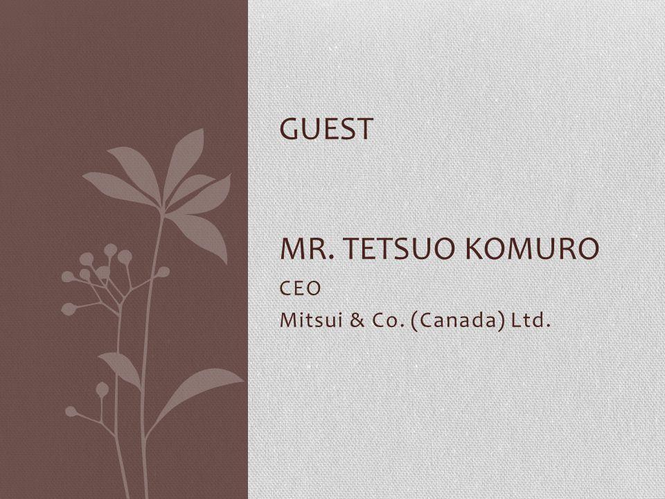 CEO Mitsui & Co. (Canada) Ltd.