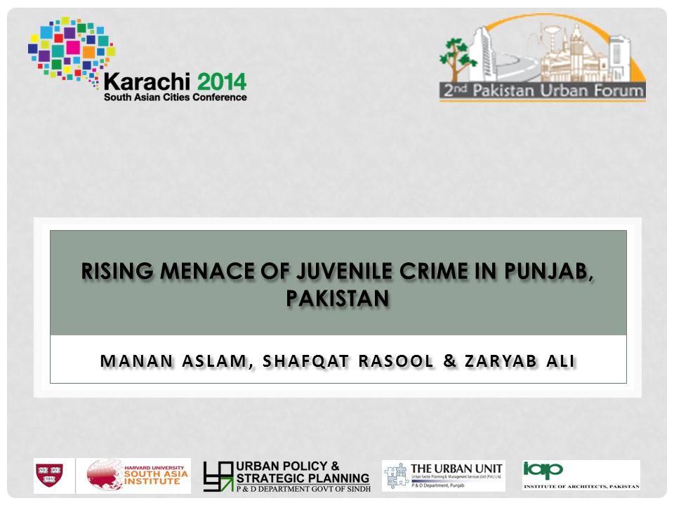 Rising Menace of Juvenile Crime in Punjab, Pakistan
