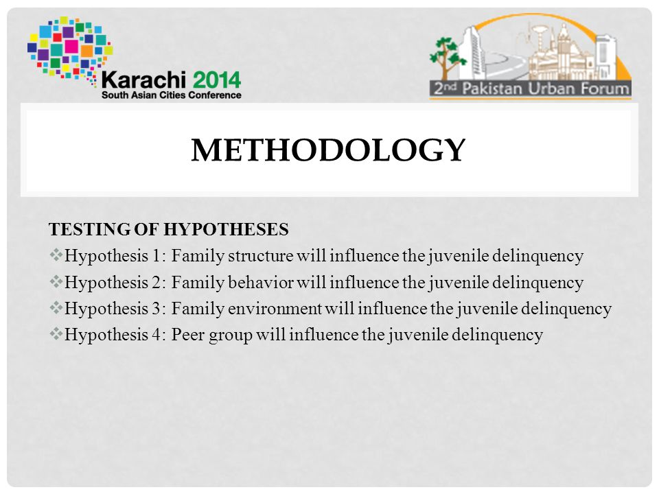 METHODOLOGY TESTING OF HYPOTHESES