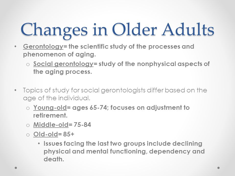 Changes in Older Adults