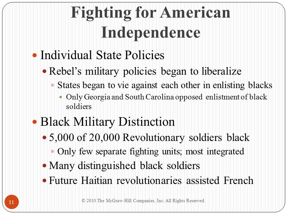 Fighting for American Independence