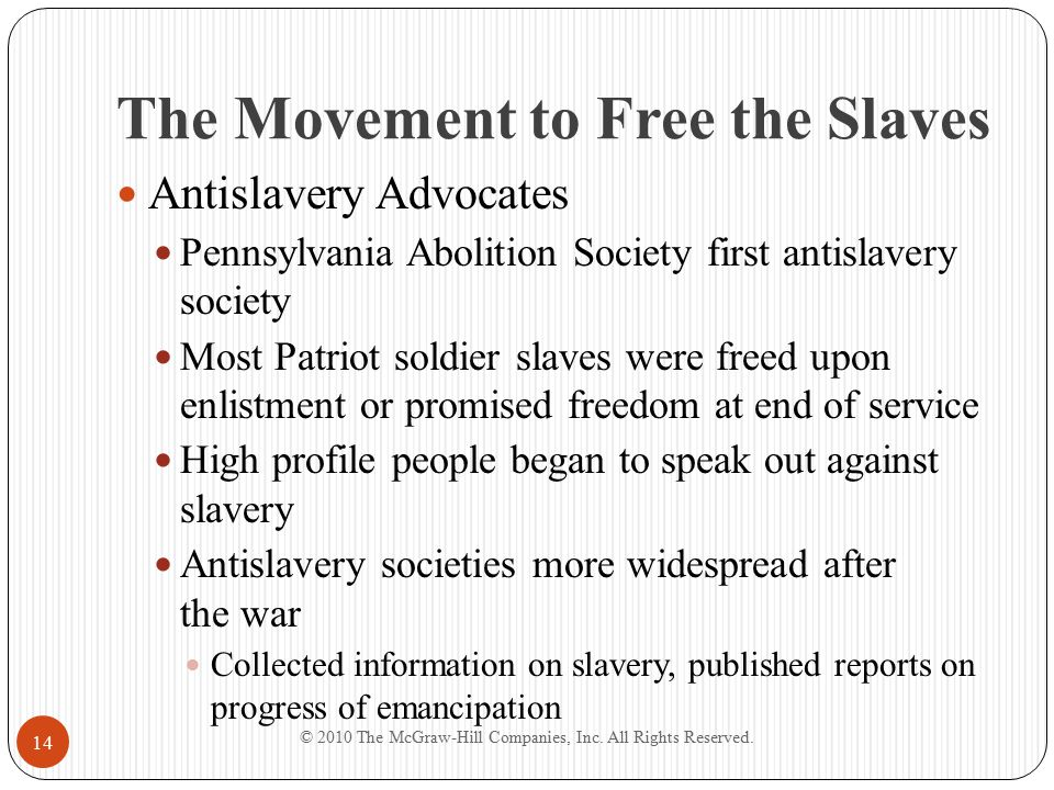 The Movement to Free the Slaves