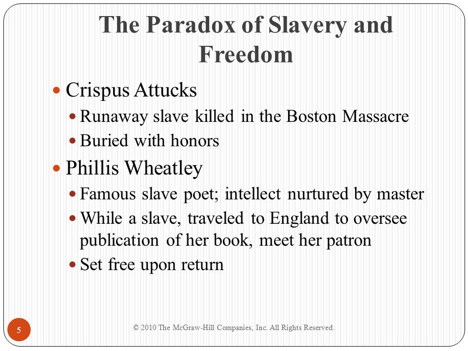 The Paradox of Slavery and Freedom