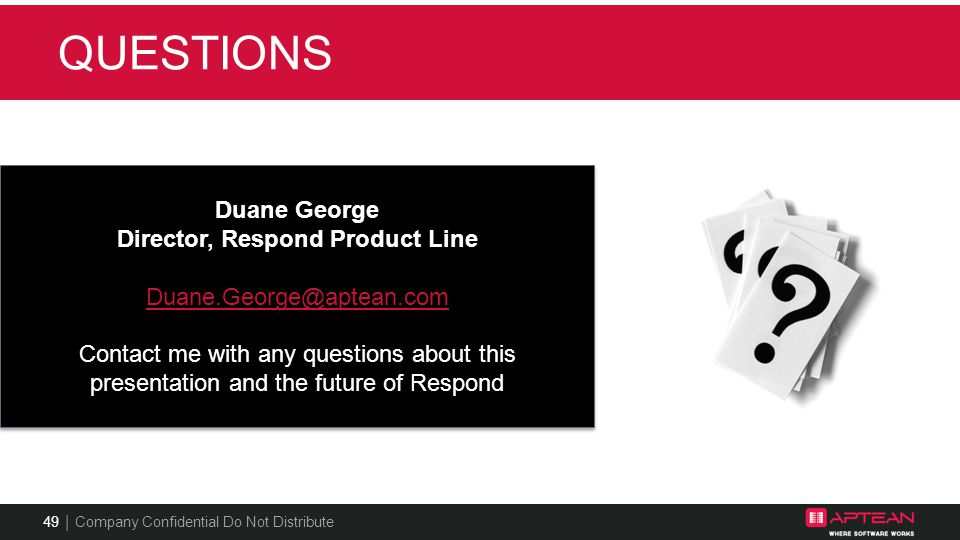 Director, Respond Product Line