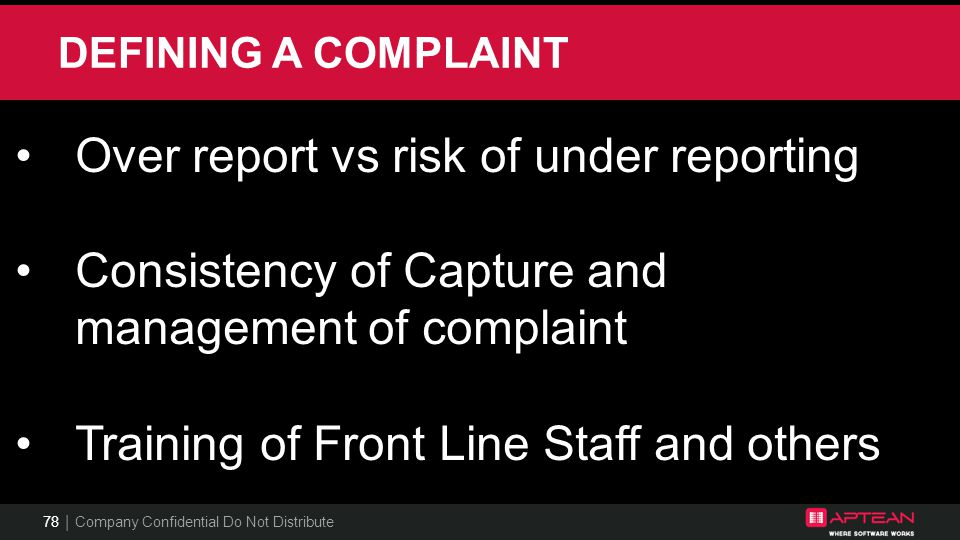 Over report vs risk of under reporting