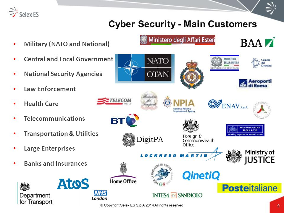 Cyber Security - Main Customers