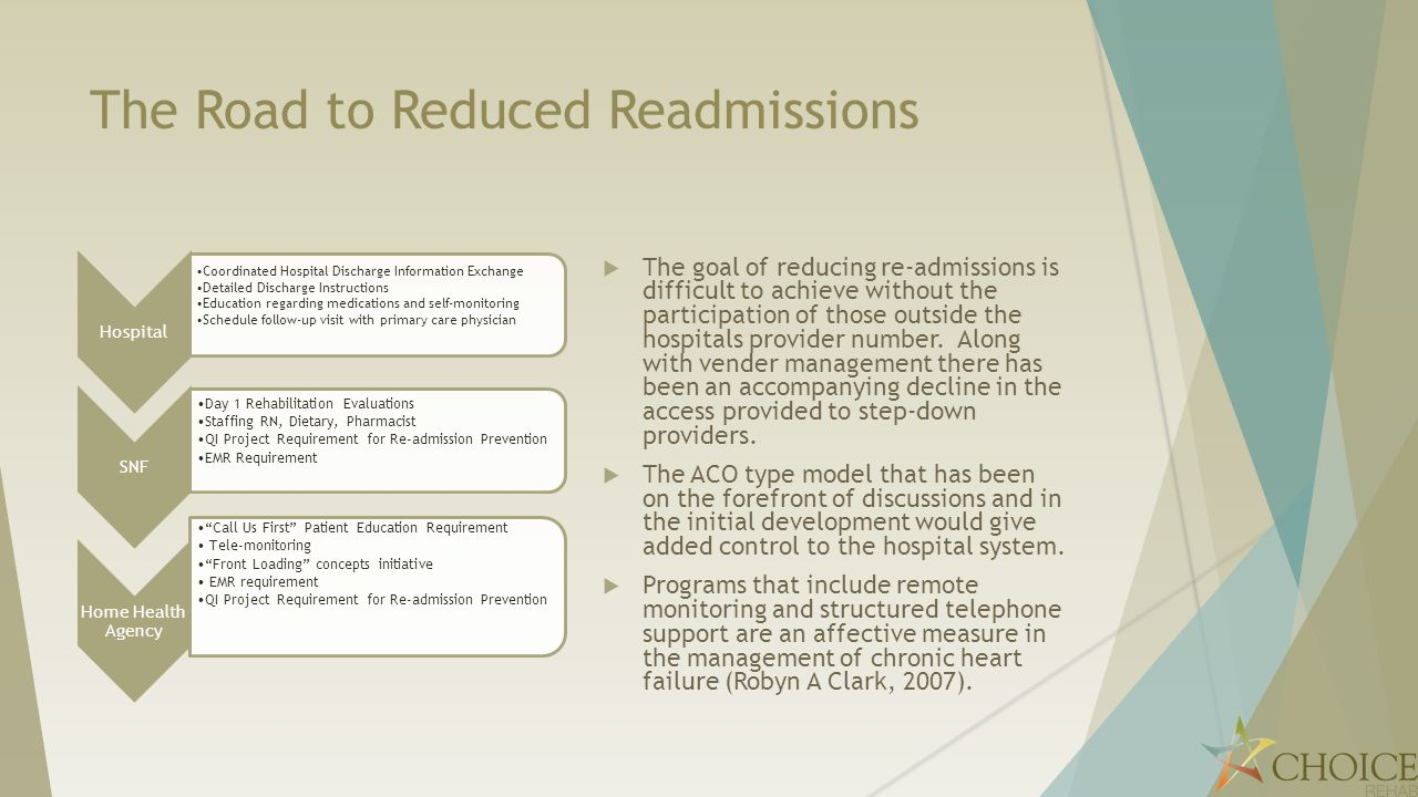 The Road to Reduced Readmissions