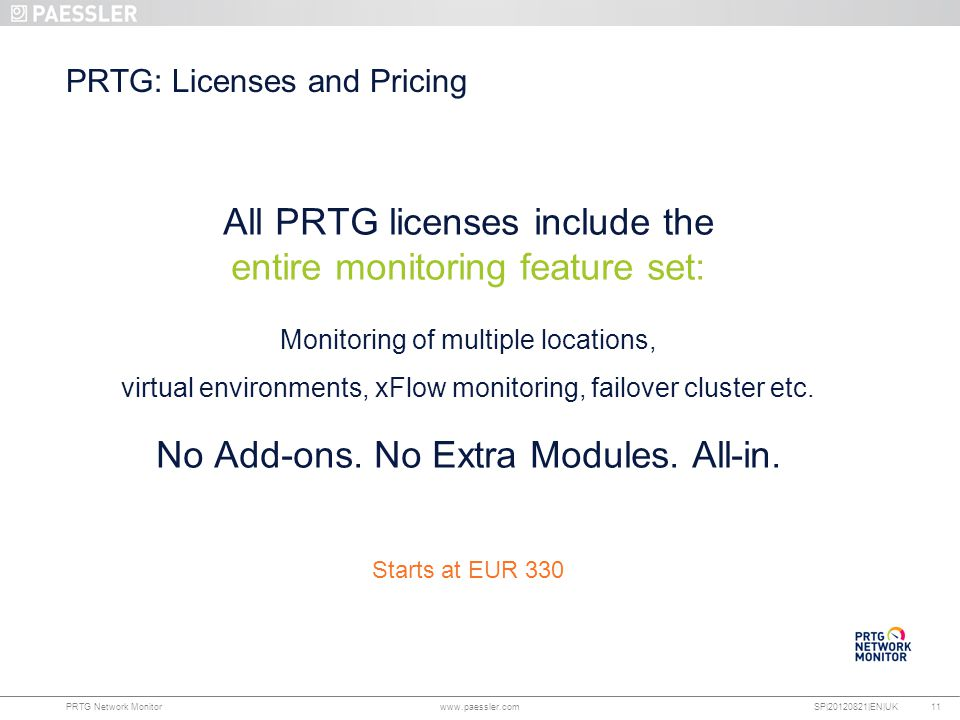 PRTG: Licenses and Pricing