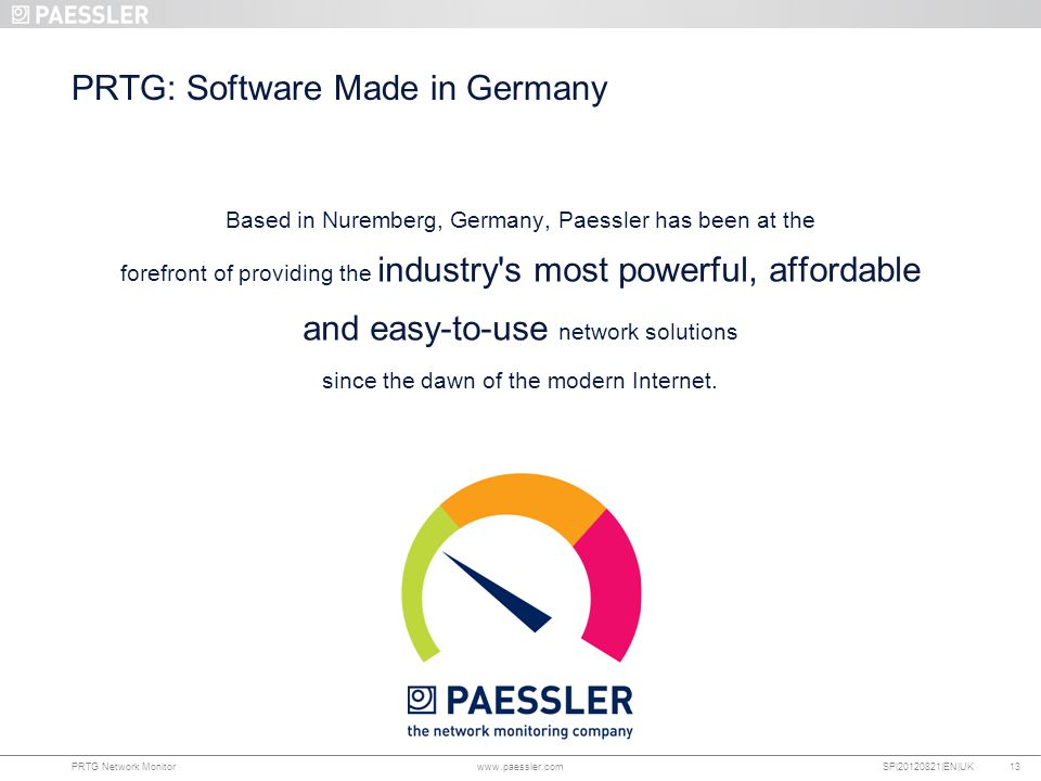 PRTG: Software Made in Germany