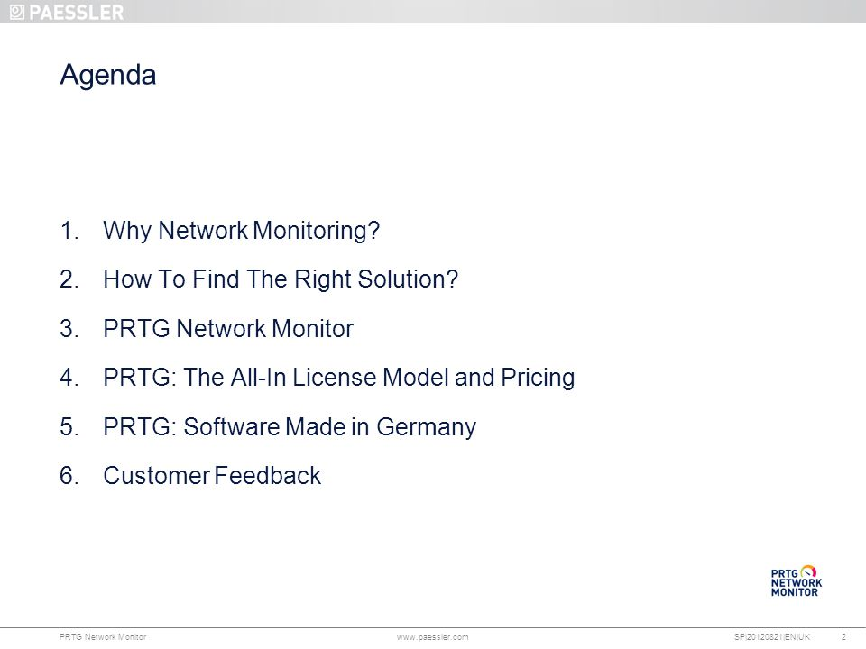 Agenda Why Network Monitoring How To Find The Right Solution