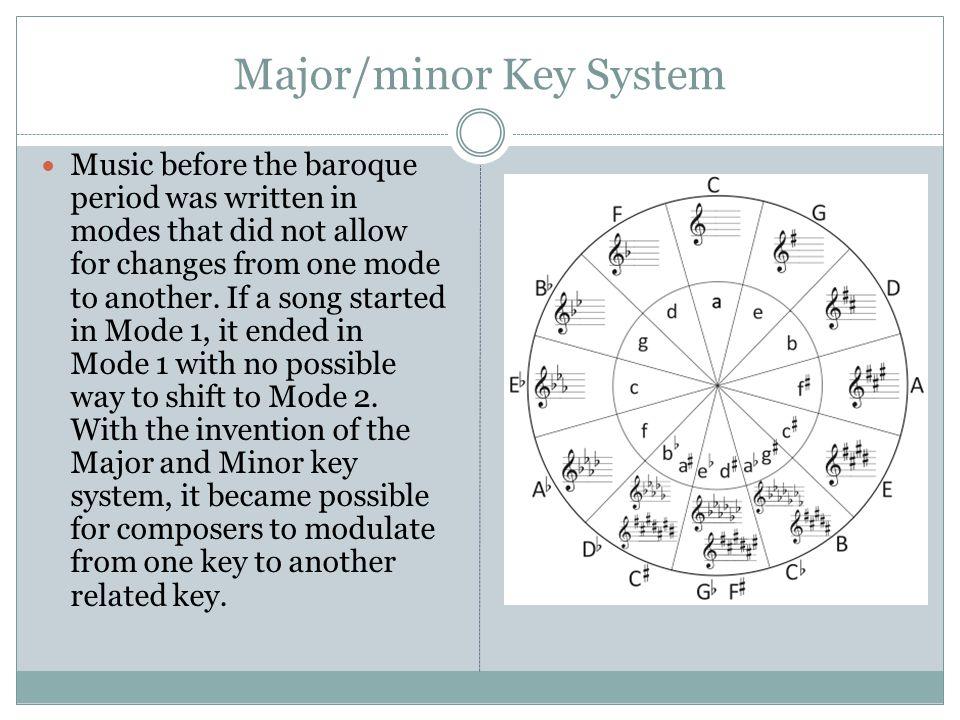 Major/minor Key System