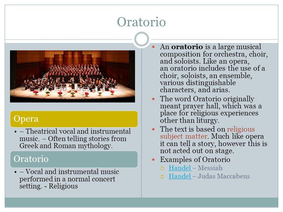 Oratorio Opera Oratorio
