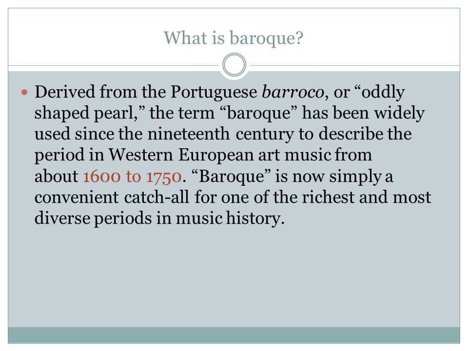 What is baroque