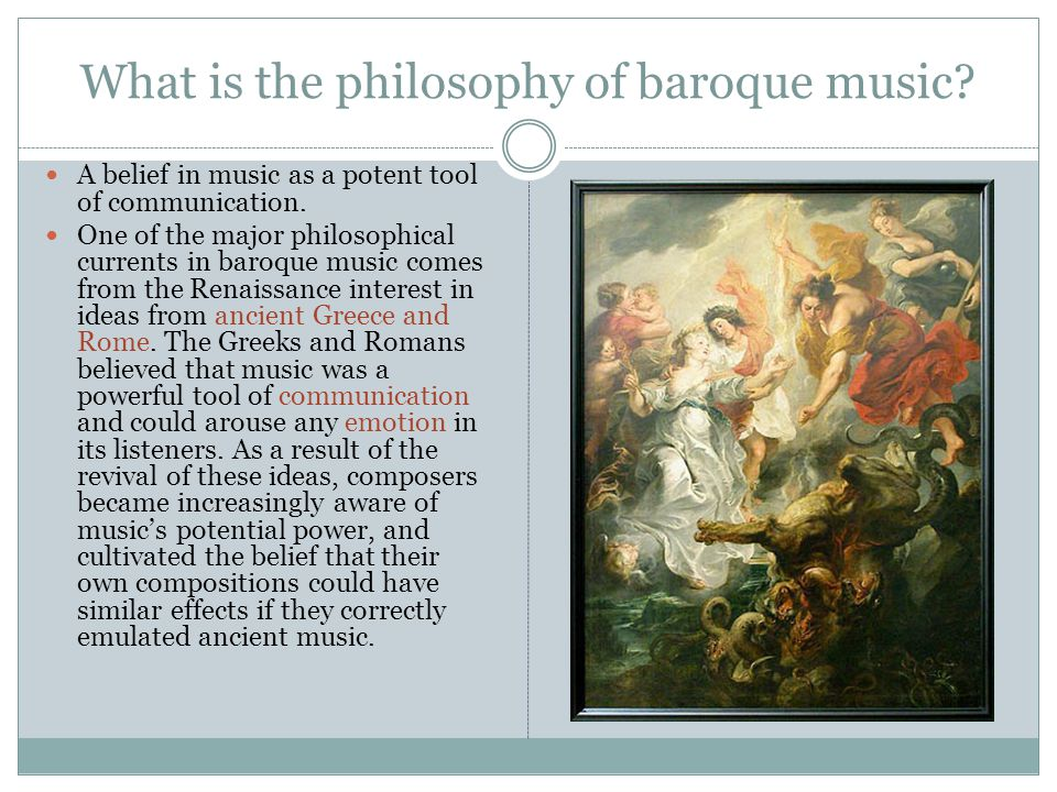 What is the philosophy of baroque music