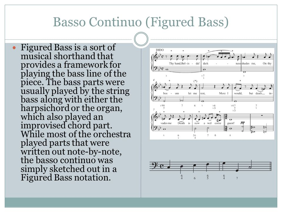 Basso Continuo (Figured Bass)