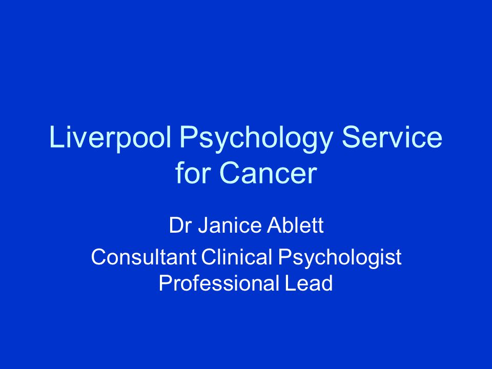 Liverpool Psychology Service for Cancer