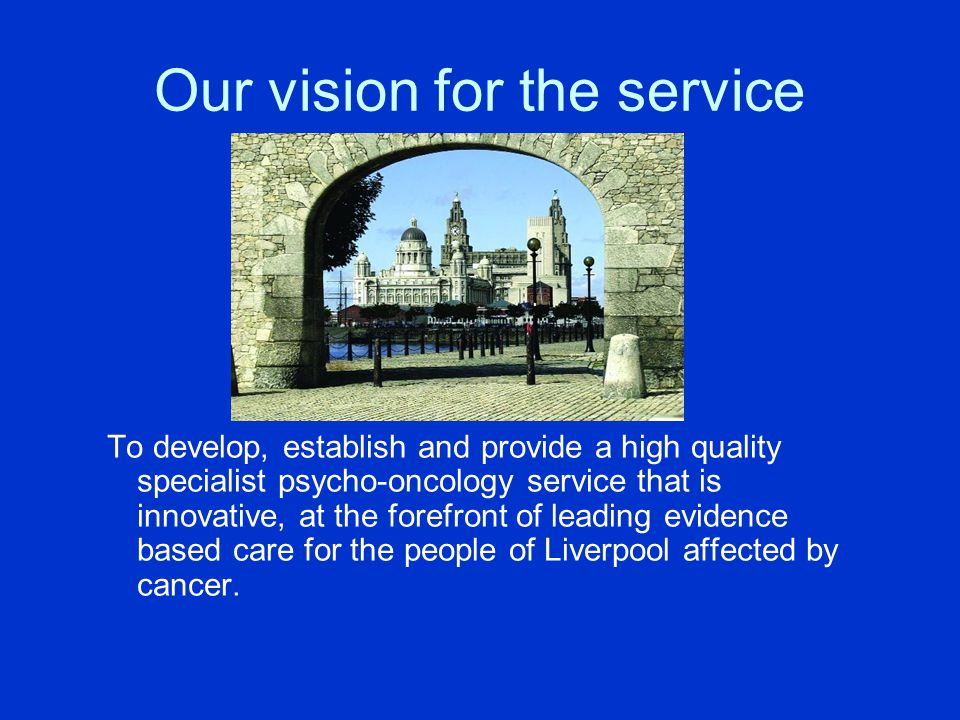 Our vision for the service