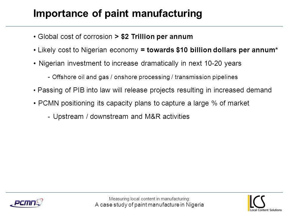 Importance of paint manufacturing