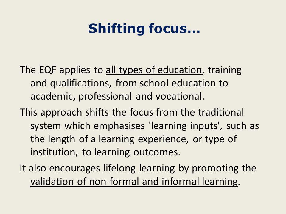 Shifting focus…